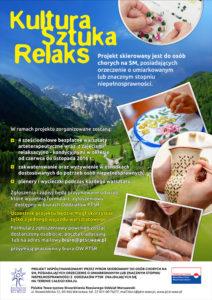 plakat Kultura Sztuka Relaks